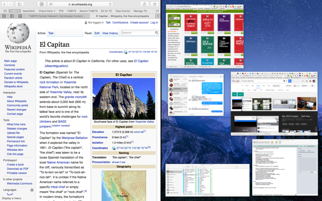 Use El Capitan's Split View to Work in Side-by-Side Windows