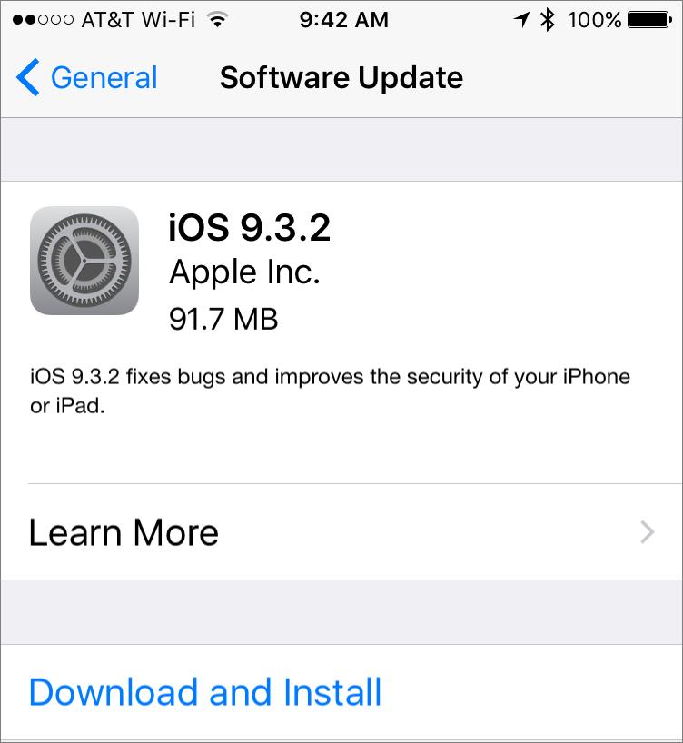 iOS-932-update
