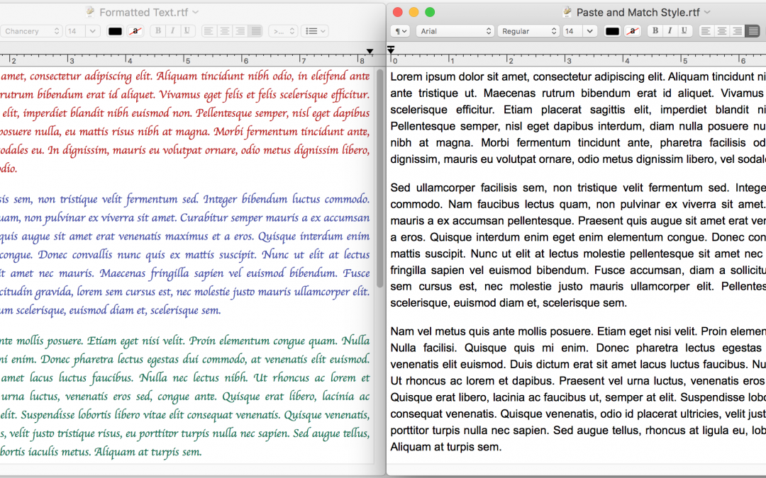 Paste without Formatting on the Mac