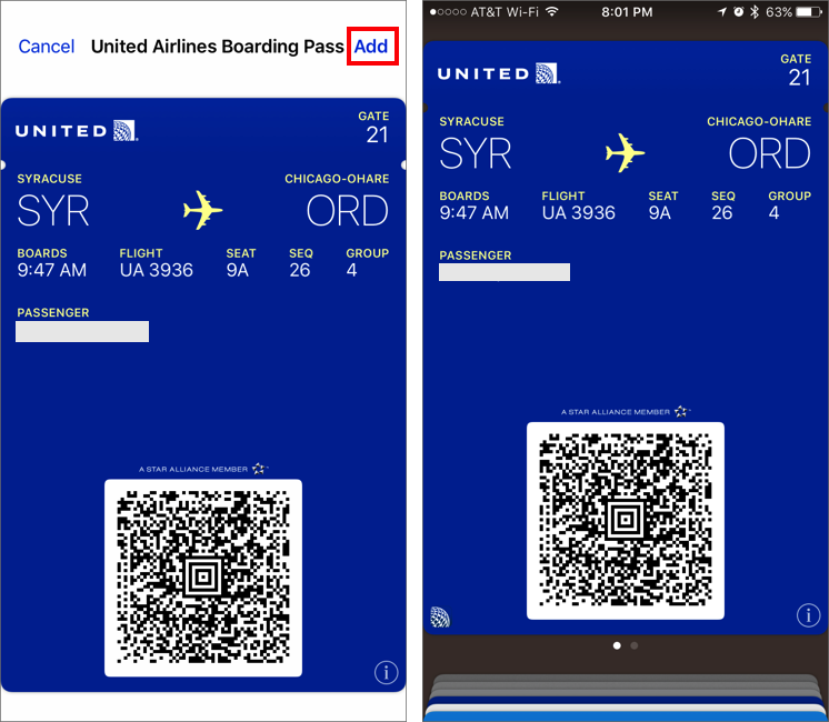 How To Use Airline Boarding Passes On Your Iphone Capitolmac
