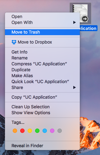 Move to trash shortcut
