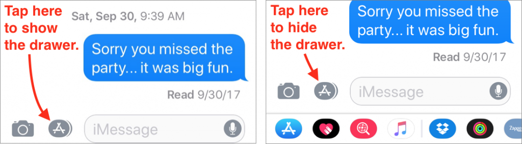 What Are Those New Icons in iOS 11's Messages App? | Simply Mac