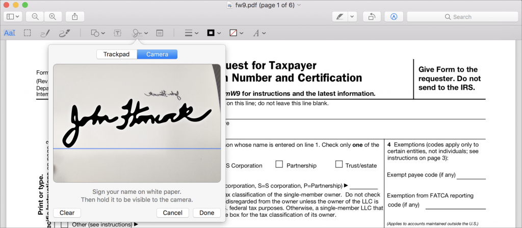 Filling out and Signing a PDF without Printing | Simply Mac