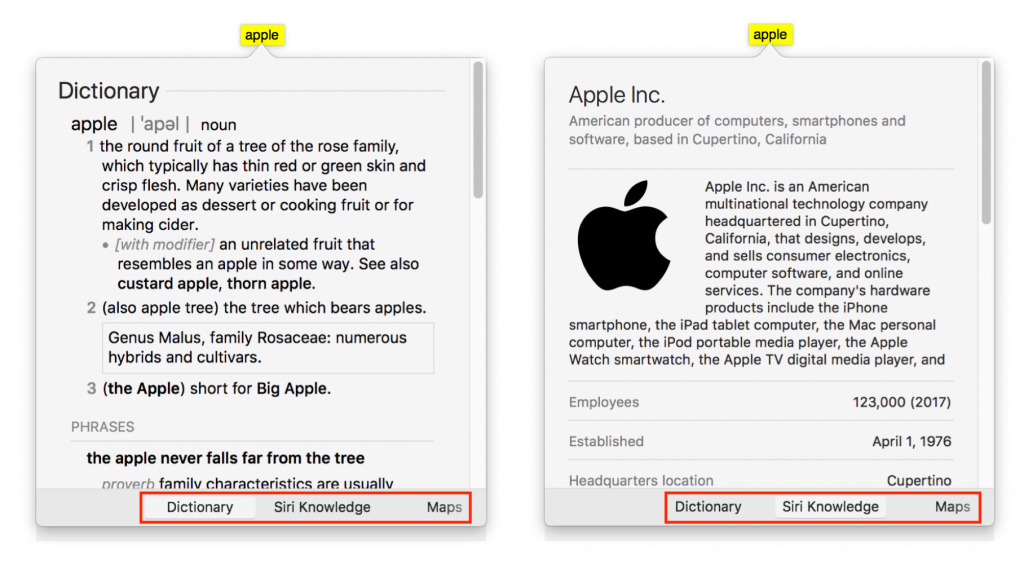 Look Up All Sorts of Information with a Quick Click or Tap on the Mac