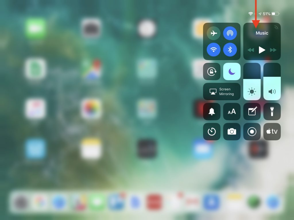 To Bring Up Control Center Swipe Down From The Upper Right Corner Of Screen Use Wi Fi And Battery Icons As A Reminder