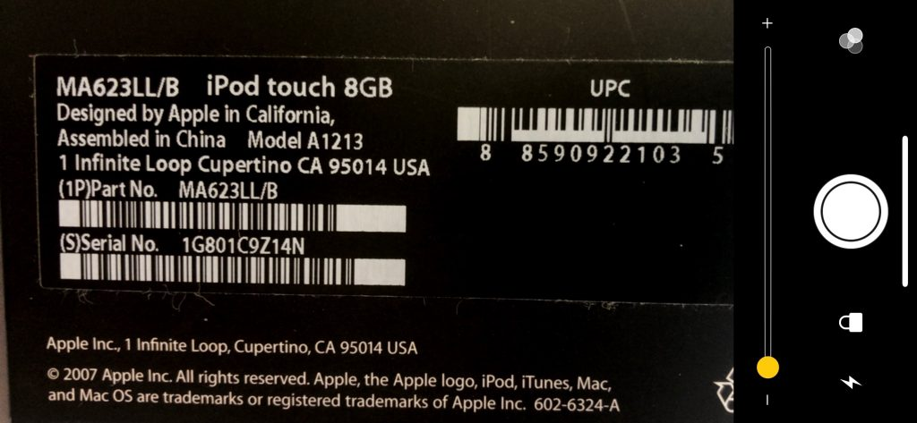 iphone serial number back of phone