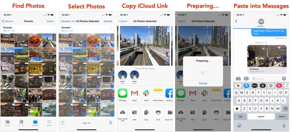 For Faster, Easier Photo Sharing Try an iCloud Link – Forget
